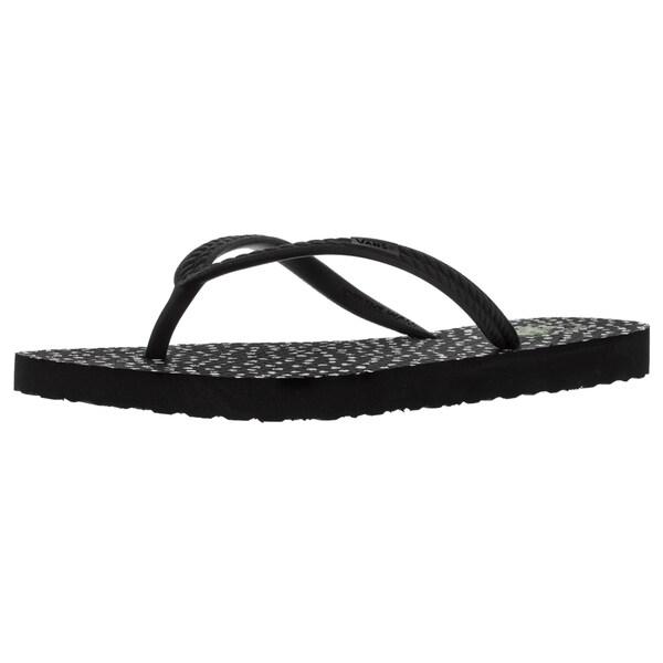 Vans Women's Hanelei (Doodle Dots) Black/White Sandal