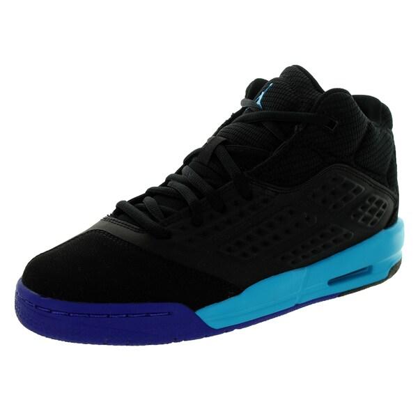 Nike Jordan Kid's Jordan New School Bg Black/Blue Lagoon/d Basketball Shoe