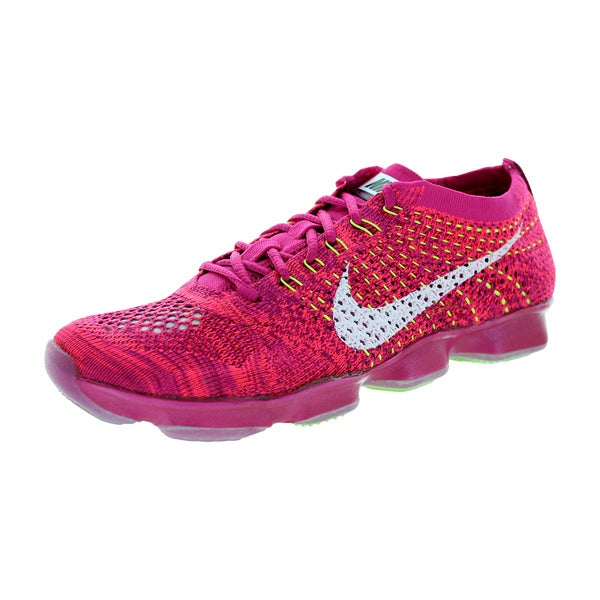 Nike Women's Flyknit Zoom Agility Frbrry/White/Rspbrry Training Shoe