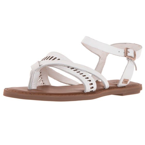 Toms Women's Lexie White Leather Sandal
