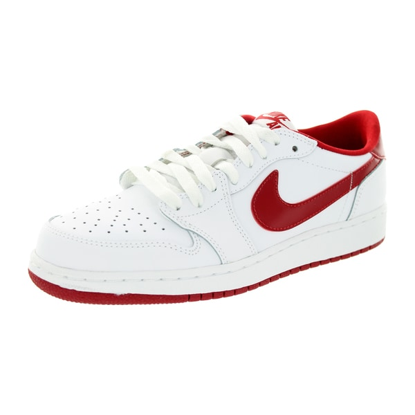 Nike Kid's Air Jordan 1 Retro Low Og Bg White/Varsity Red/White Basketball Shoe