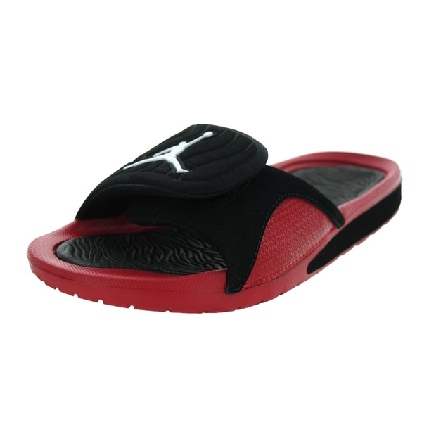 Nike Jordan Kid's Jordan Hydro 4 Bg Black/White/Gym Red Sandal