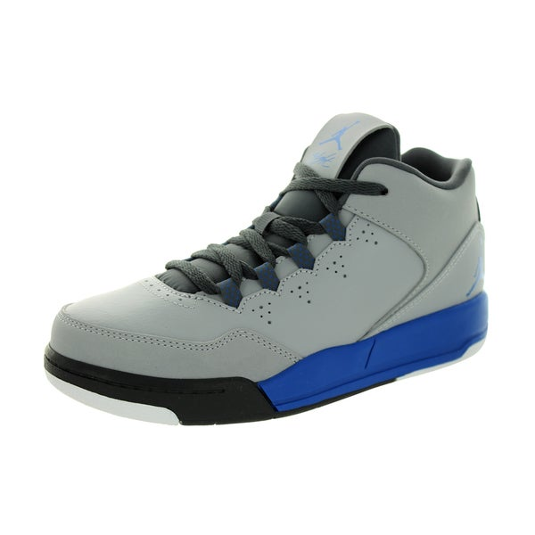 Nike Jordan Kid's Jordan Flight Origin 2 Bp Wolf Grey/Soar/Dark Grey/White Basketball Shoe
