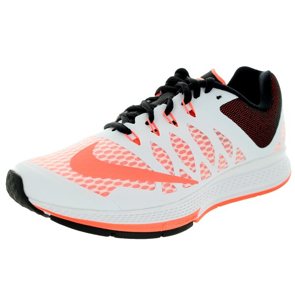 Nike Women's Air Zoom Elite 7 White/Brightt Mango/Black Running Shoe