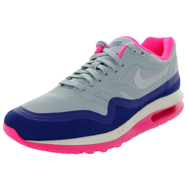 Nike Women's Air Max Lunar1 Lt Magenta Grey/Pink Running Shoe