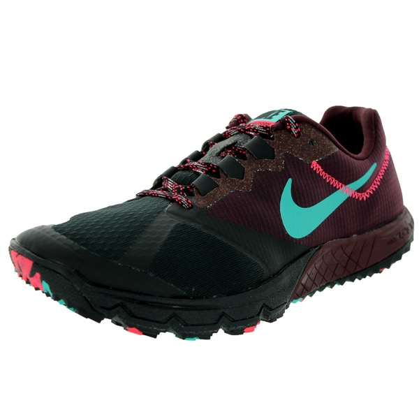 Nike Women's Air Zoom Wildhorse 2 Black/ Jd/Dp Brgndy/ Pnc Running Shoe