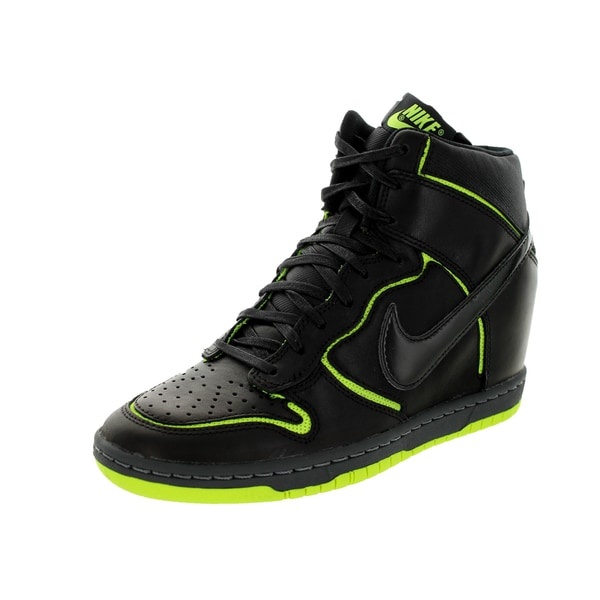 Nike Women's Dunk Sky Hi Cut Out Prm Black/Black/Volt/Dark Grey Casual Shoe
