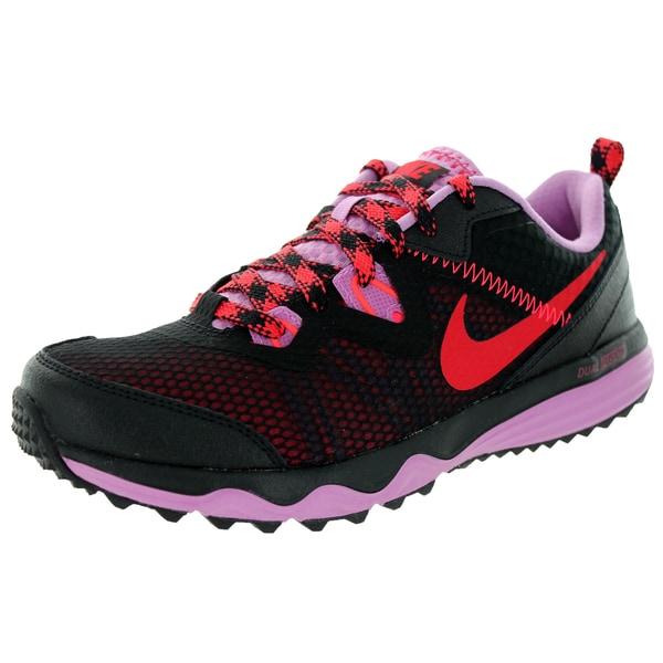 Nike Women's Dual Fusion Trail Black/Action Rd/Lt Magenta/Hyper Punch Running Shoe