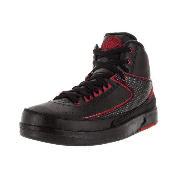 Nike Jordan Kid's Air Jordan 2 Retro Bg Black/Varsity Red Basketball Shoe