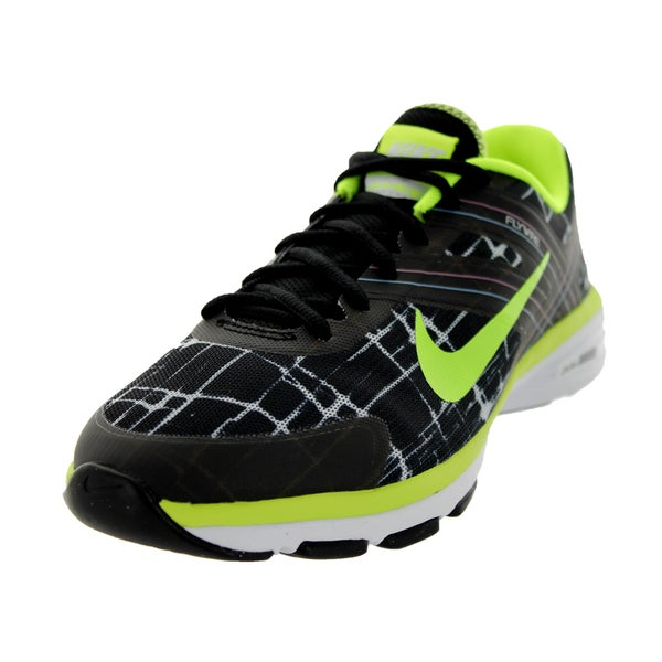 Nike Women's Dual Fusion Tr 2 Print Black/Volt/Metallic Black/White Training Shoe
