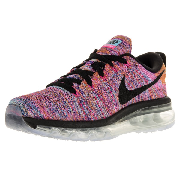 Nike Women's Flyknit Max Concord/Black/Gmm Blue/Pink Pw Running Shoe