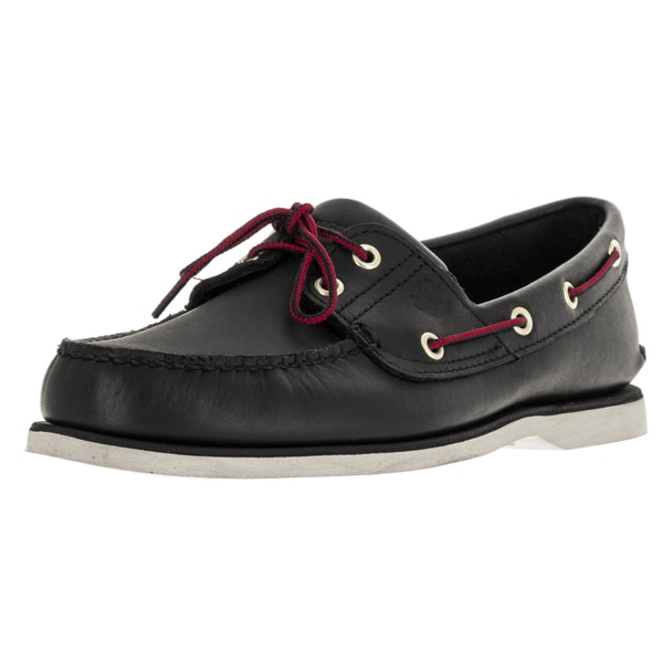 Timberland Men's Classic 2-Eye Black Boat Shoe