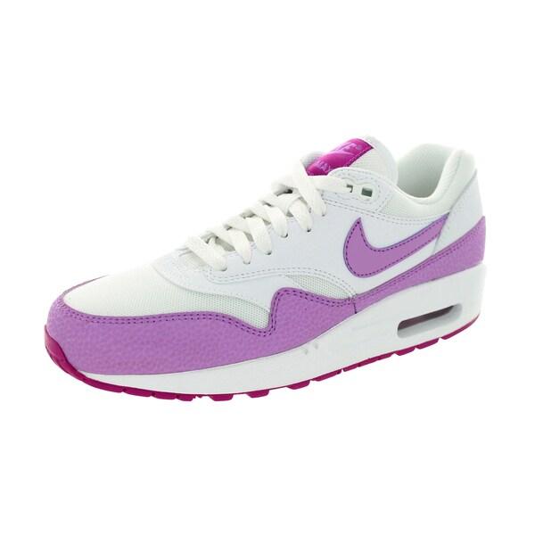 Nike Women's Air Max 1 Essential White/Fuchsia Glow/Fchs Flash Running Shoe