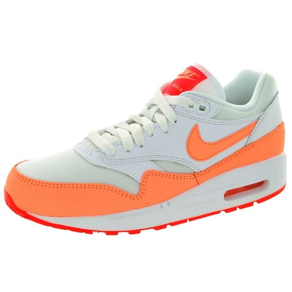 Nike Women's Air Max 1 Essential White/Sunset Glow/Hot Lava Running Shoe