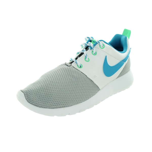 Nike Kid's Roshe One (Gs) Metallic Silver/White/Elctr Running Shoe