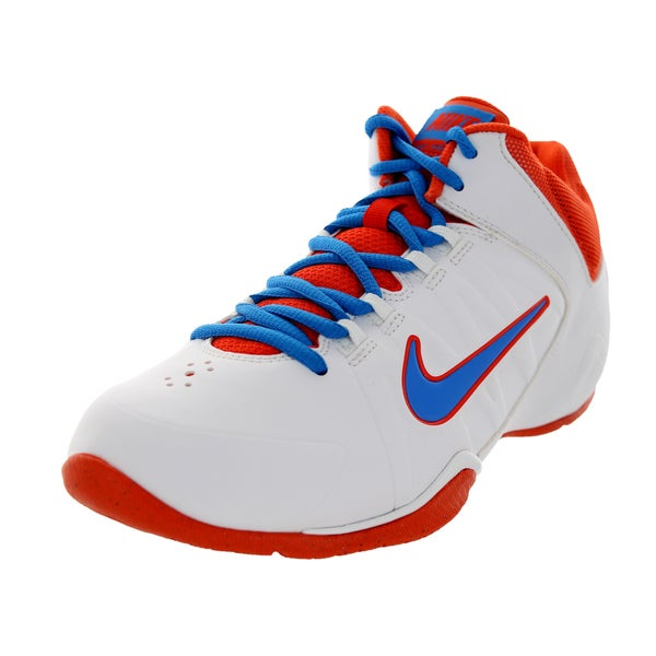 Nike Kid's Av Pro 4 (Gs/Ps) White/Photo Blue/Team Orange Basketball Shoe