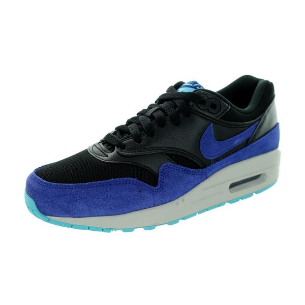 Nike Women's Air Max 1 Essential Black/Royal Blue/ Running Shoe