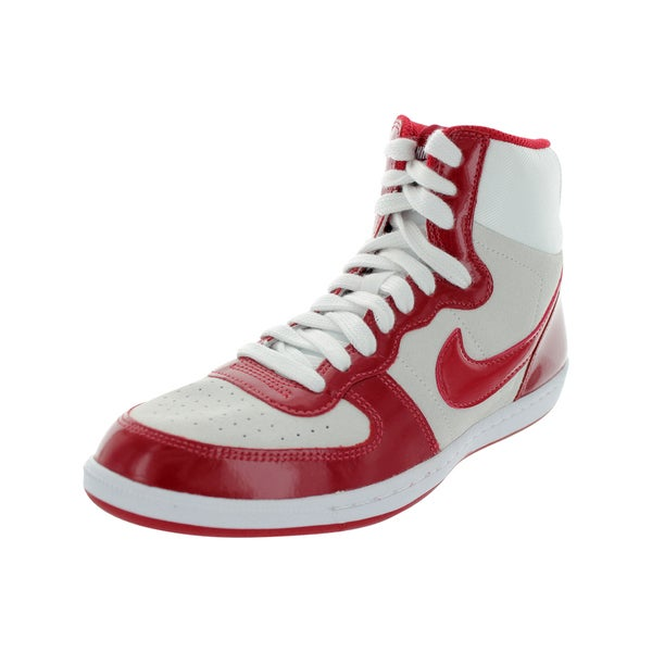 Nike Women's Terminator Lite Hi White/Gym Red/Gym Red Lifestyle 7.5 Women's Us