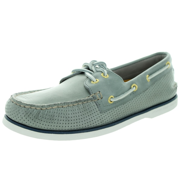 Sperry Top-Sider Men's Gold Authentic Original 2-Eye Perf Grey Boat Shoe