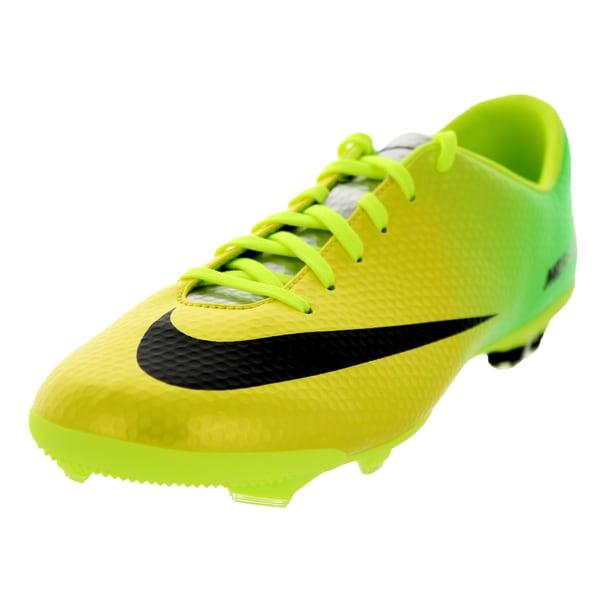 Nike Kid's Jr Mercurial Vapor IX Fg Vibrant Yellow/Black/Neo Lime Soccer Cleat