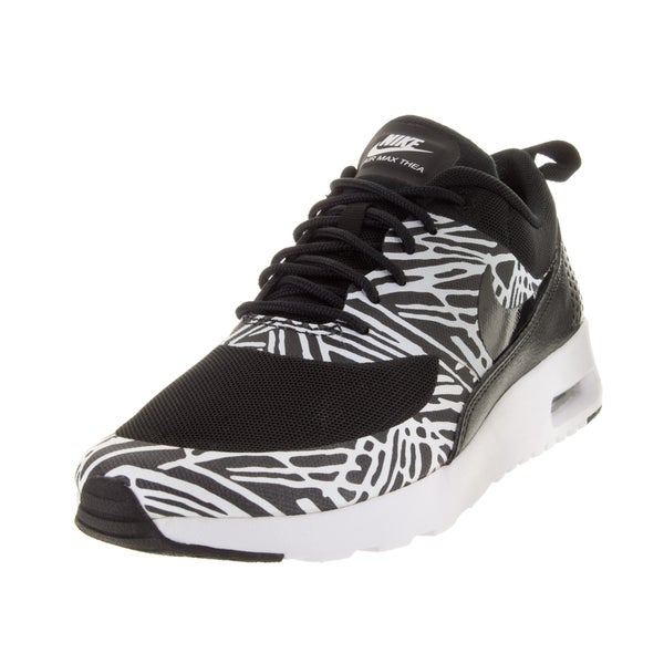 Nike Women's Air Max Thea Print Black/Black/White/Mlc Slver Running Shoe