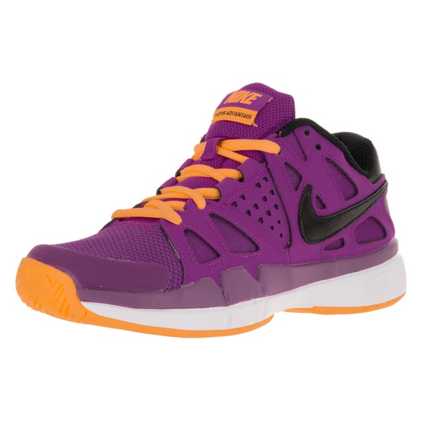 Nike Women's Air Vapor Aantage Violet/Black/Lsr Orange/White Tennis Shoe