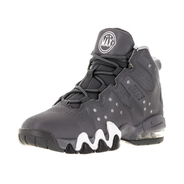 Nike Kid's Air Max Barkley (Ps) Dark Grey/Dark Grey/White/Wlf Basketball Shoe