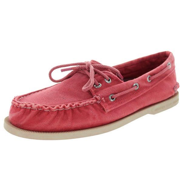 Sperry Top-Sider Men's Authentic Original 2-Eye Color Washed Red Boat Shoe