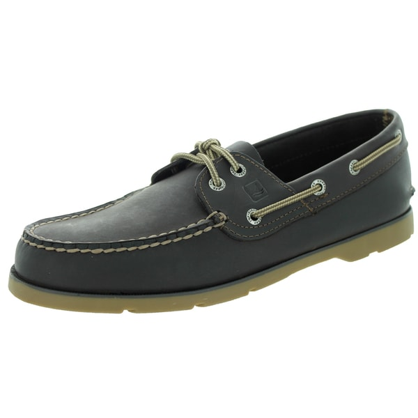 Sperry Top-Sider Men's Leeward Dark Brown Honey Boat Shoe