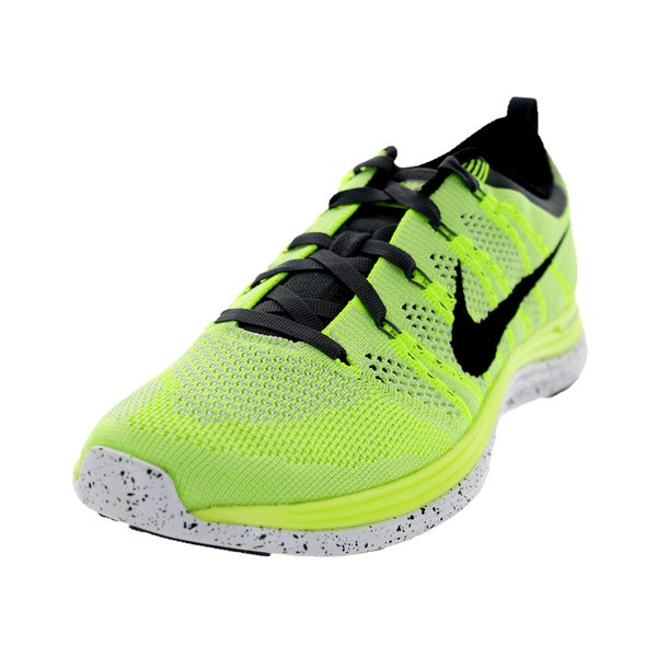 Nike Women's Flyknit One+ Volt/Black/White/Pure Platinum Running Shoe