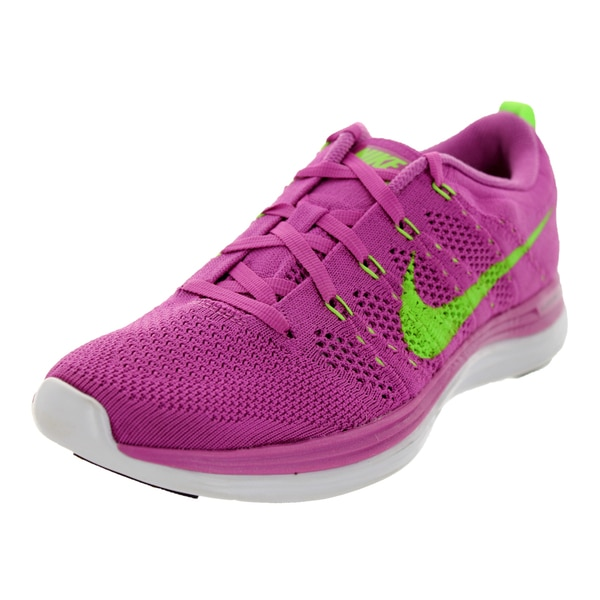 Nike Women's Flyknit Lunar1+ Club Pink/Electric Green/White Running Shoe