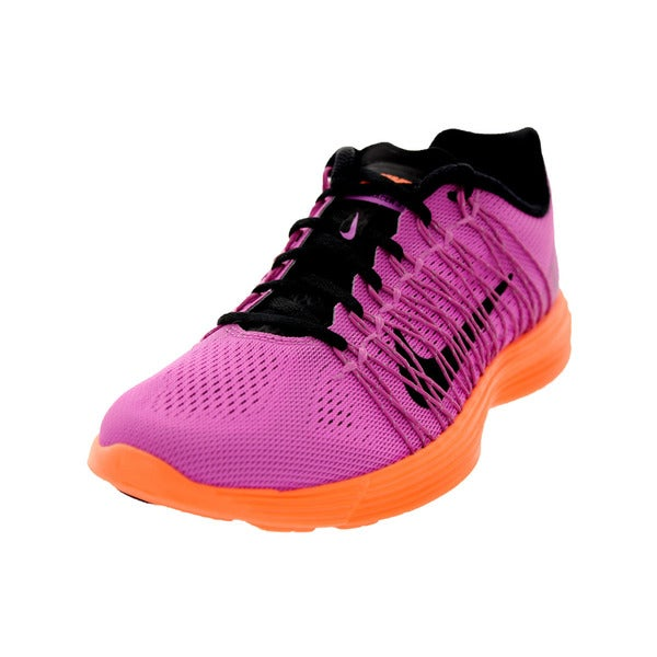 Nike Women's Lunaracer+ 3 Red Violet/Black/Atomic Orance Running Shoe