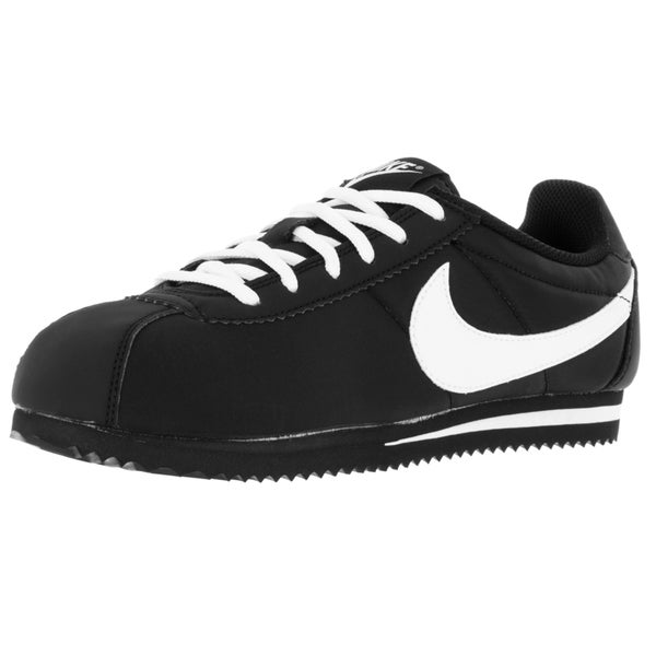 Nike Kid's Cortez Nylon (Gs) Black/White Casual Shoe