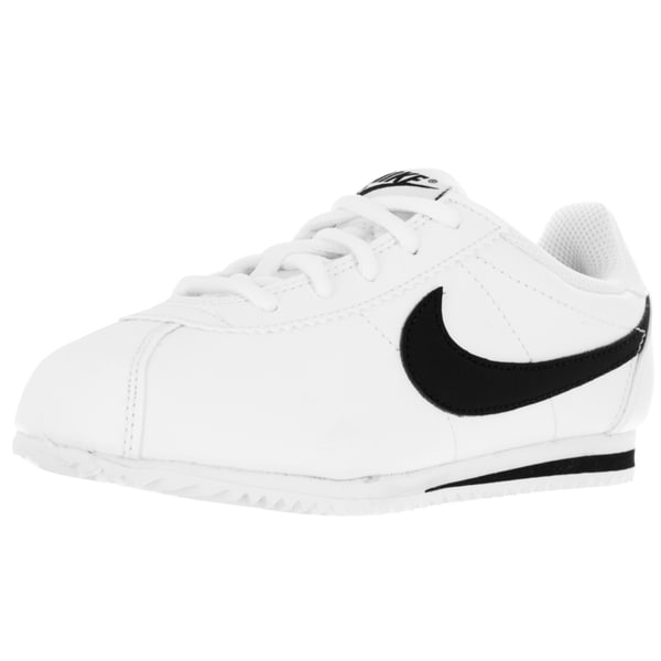 Nike Kid's Cortez (Ps) White/Black Running Shoe