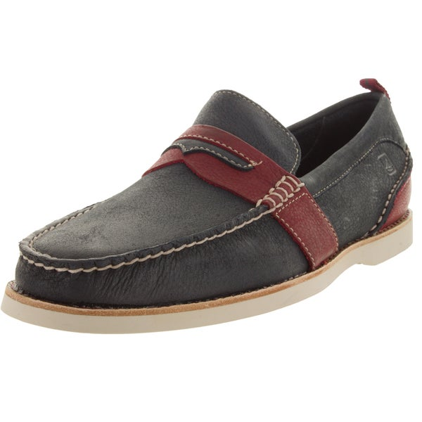 Sperry Top-Sider Men's Seaside Penny Blue/Red Loafers and Slip-Ons Shoe