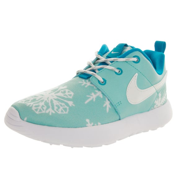 Nike Kid's Roshe One Print (Ps) Copa/White/Blue Laggon Running Shoe