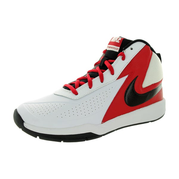 Nike Kid's Team Huse D 7 (Gs) White/Black/Gym Red Basketball Shoe