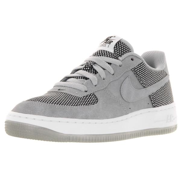 Nike Kid's Air Force 1 Premium (Gs) Wolf Grey/Wolf Grey/Black/White Basketball Shoe