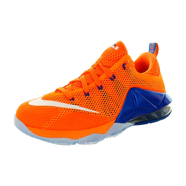 Nike Kid's Lebron Xii Low (Gs) Brightt Citrus/White/Orange/Sr Basketball Shoe