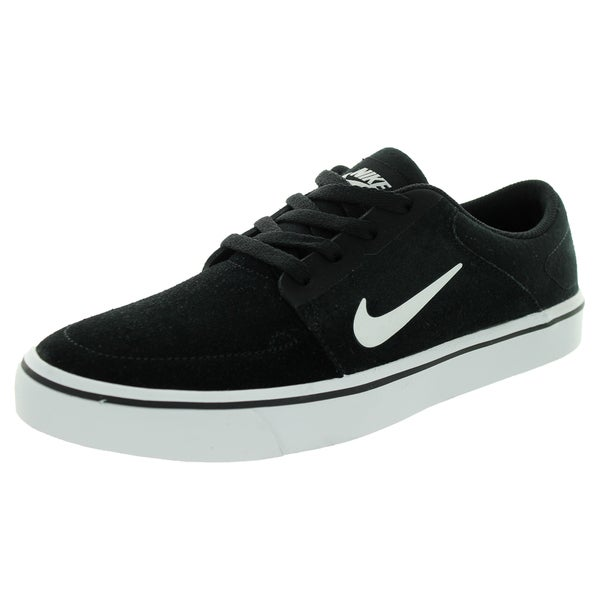 Nike Kid's Sb Portmore (Gs) Black/White/White Skate Shoe