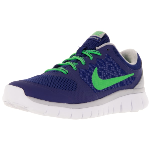 Nike Kid's Flex 2015 (Gs) Deep Royal Blue/G Strk/Wlf /White Running Shoe