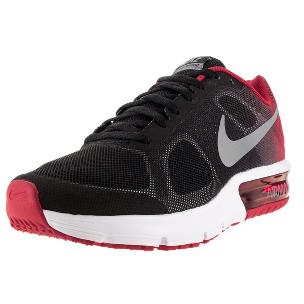 Nike Kid's Air Max Sequent (Gs) Black/Metallic Cool Grey/University Red/White Running Shoe