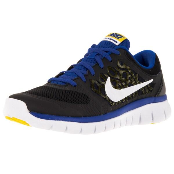 Nike Kid's Flex 2015 (Gs) Black/White/ Cblt/Vrsty Mz Running Shoe