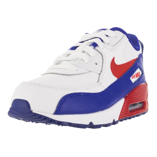 Nike Kid's Air Max 90 Ltr (Ps) White/Unversity Red Running Shoe