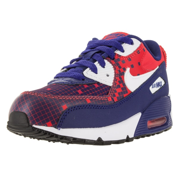 Nike Kid's Air Max 90 Prm Mesh (Ps) Deep Royal Blue/White/L/Black Running Shoe