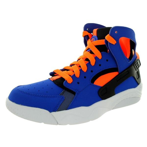 Nike Kid's Air Flight Huarache (Gs) Game Royal/T Orange/Black/White Basketball Shoe