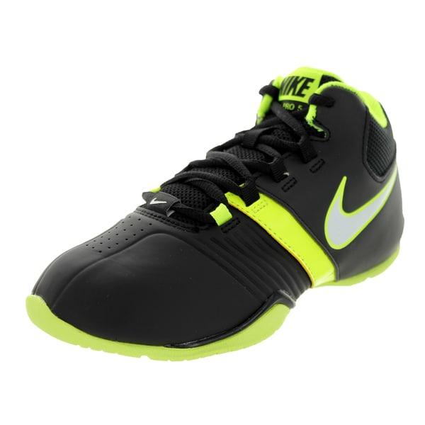 Nike Kid's Av Pro V (Gs/Ps) Black/White/Volt Basketball Shoe