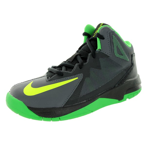 Nike Kid's Stutter Step 2 (Ps) Dark Grey/Volt/Black/Light Green Sprk Basketball Shoe
