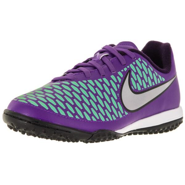 Nike Kid's Jr Magista Onda Tf /Metallic Silver/Purple Turf Soccer Shoe