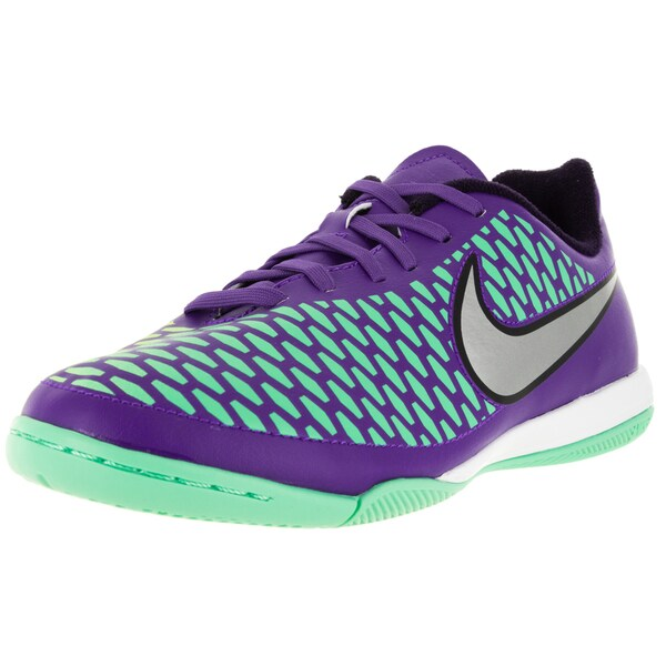 Nike Kid's Magista Onda Ic /Metallic Silver/Purple Soccer Cleat
